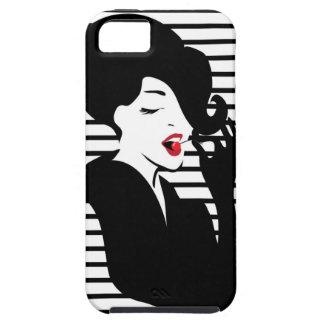 Fashion pin up stylish striped illustration iPhone 5 cases