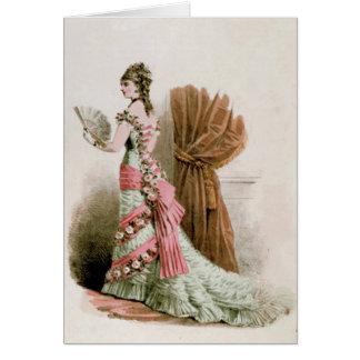 Fashion Plate ~ Card Paint Vintage Paris France