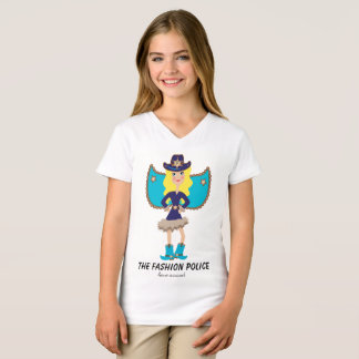 Fashion Police Fairy Angel Blue Blonde Bombshell T-Shirt