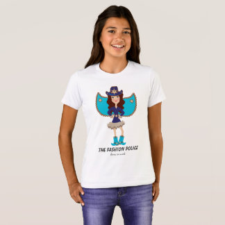 Fashion Police Fairy Angel Blue Brunette Hair T-Shirt