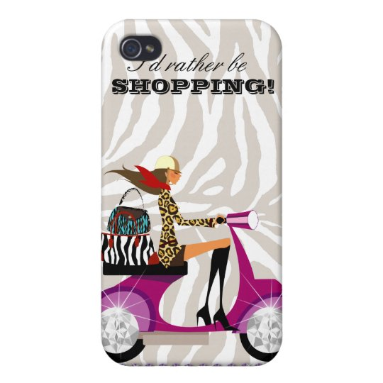 Fashion Purse Zebra iPhone 4 Cover purple Jewels