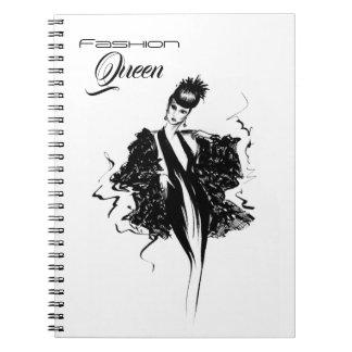 Fashion Queen Fashionillustration Notebooks