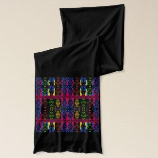 Fashion Scarf for Women-Multicolored on Black