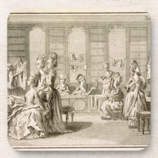 Fashion shop, from the 'Encyclopedia' by Denis Did Drink Coasters