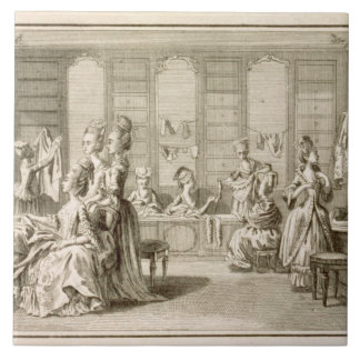 Fashion shop, from the 'Encyclopedia' by Denis Did Tile