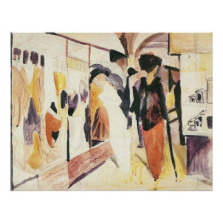 Fashion shop porch by August Macke Poster
