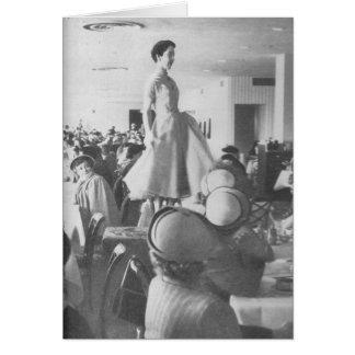 Fashion Show at the Tea Room Card