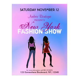 Fashion Show Boutique Promotional Custom Flyers Personalized Flyer