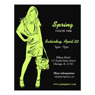 Fashion Show (Dark Olive Green) Flyer Design