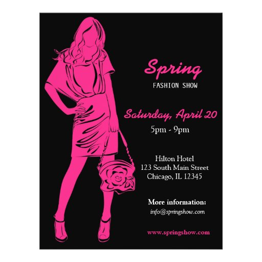 Fashion Show (Deep Pink) Personalized Flyer