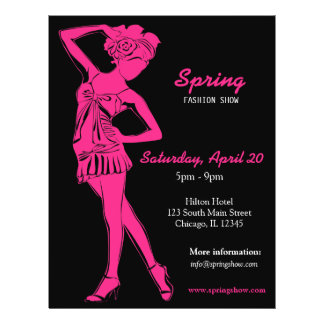 Fashion Show (Deep Pink ) Personalized Flyer