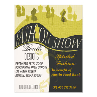 Fashion Show & Designer Invitation Full Colour Flyer