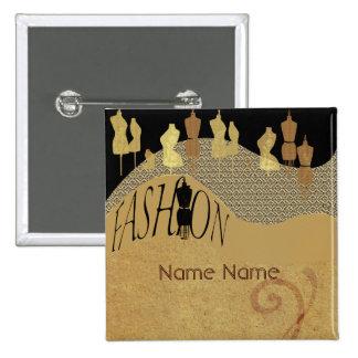 Fashion Show & Fashion Designer Name Tag 2 Inch Square Button
