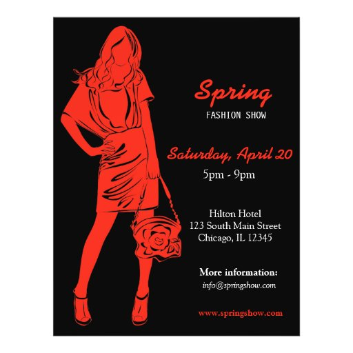 Fashion Show (Firebrick) Personalized Flyer