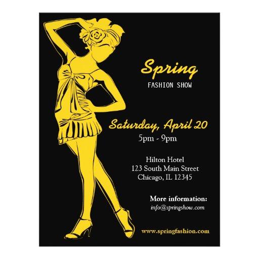 Fashion Show (Gold) Custom Flyer