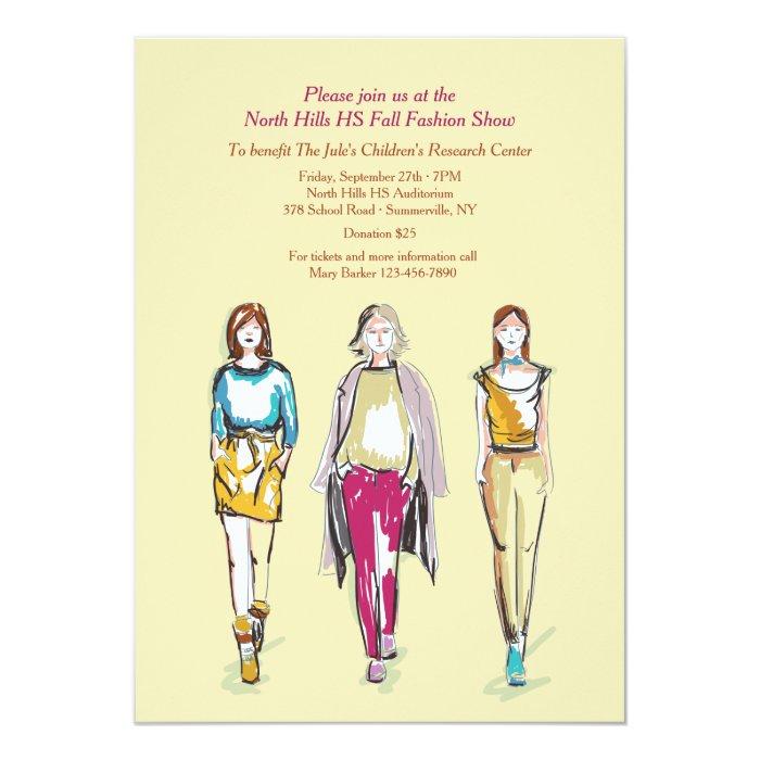 Fashion Show Invitations Zazzle