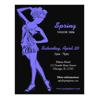 Fashion Show (Light Slate Blue) Personalized Flyer