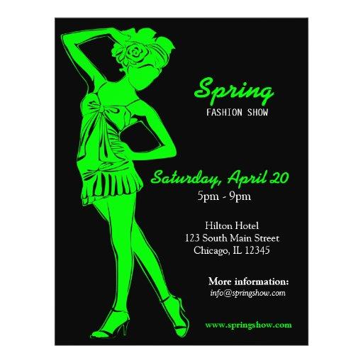 Fashion Show (Lime) Custom Flyer