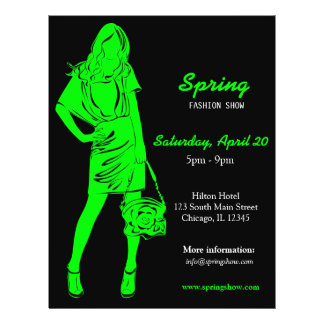 Fashion Show Lime Personalized Flyer