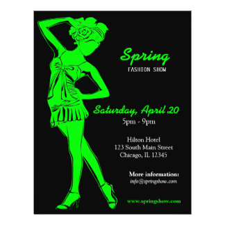 Fashion Show (Lime) Personalized Flyer