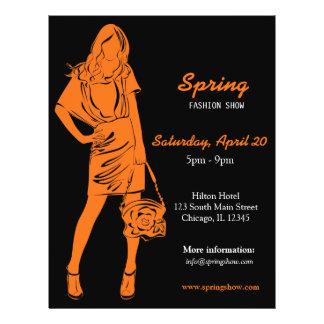 Fashion Show (Orange) Flyer Design