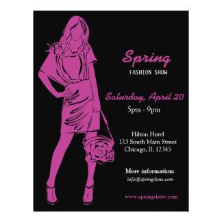 Fashion Show (Plum) Custom Flyer