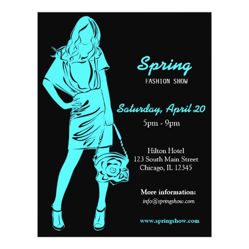 Fashion Show (Turquoise) Personalized Flyer