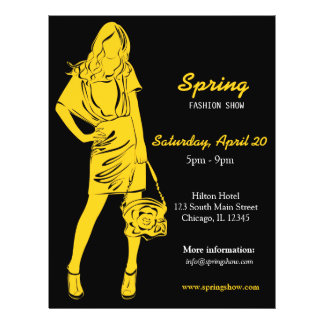 Fashion Show (Yellow) Flyer
