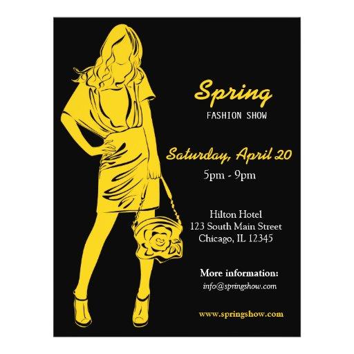 Fashion Show (Yellow) Flyer Design