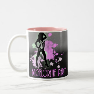Fashion silhouette Bachelorette Party Invitation Two-Tone Coffee Mug