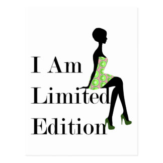 Fashion Silhouette I Am Limited Edition Quote Postcard
