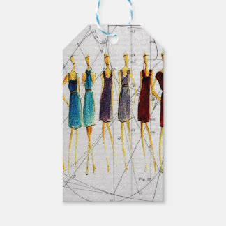 Fashion sketch pack of gift tags