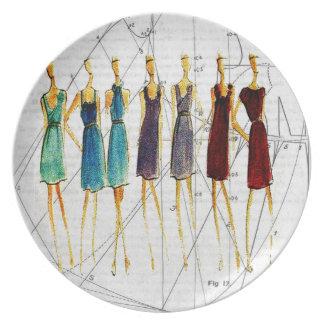 Fashion sketch plate