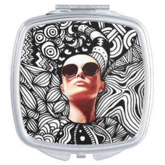Fashion Tangle Square Compact Mirror