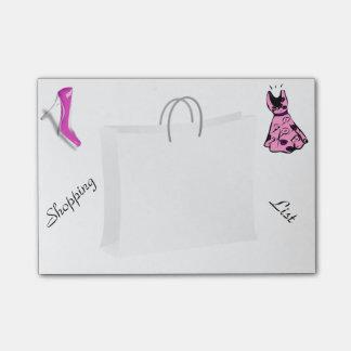 Fashion Theme Shopping List Post-it Notes