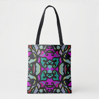 Fashion Tote Bag Pattern on Pink/Blue/Yellow/Red