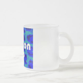 Fashion VIP on Blue Leopard Background Frosted Mug