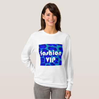 Fashion VIP on Blue Leopard Background T-Shirt