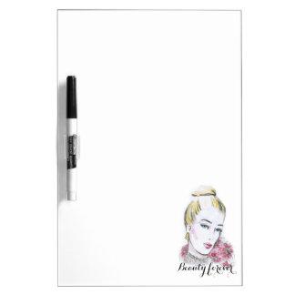 Fashion wedding watercolor illustration dry erase whiteboard