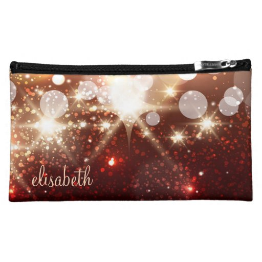Fashionable and Stylish Gold Glitter Sparkle Makeup Bags