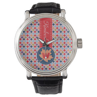 Fashionable Autumn Fall Geometric Pattern Monogram Watch