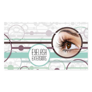 Fashionable Bubbles Eyelash Extensions Card Business Card Template