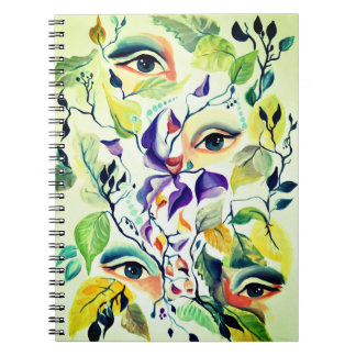 Fashionable chic painted  eyes notebook