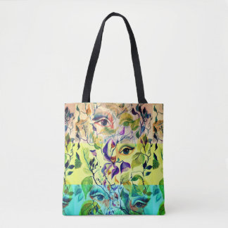Fashionable chic painted  eyes tote bag