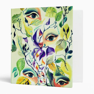 Fashionable chic painted  eyes vinyl binders