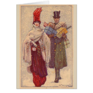 Fashionable Couple Shopping, Card