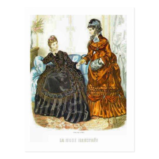 Fashionable French Ladies, 1875 Postcard