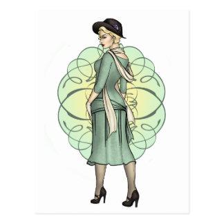 Fashionable Gangster - 1920s Pinup Postcard