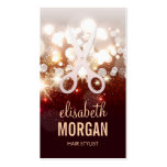Fashionable Hair Stylist - Gold Glitter Sparkle Pack Of Standard Business Cards