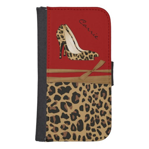 Fashionable Jaguar Print Samsung S4 Wallet Case Phone Wallet